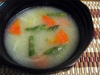 小金井野菜-グリーンアスパラガスの塩スープ