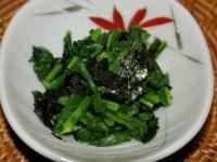 のらぼう菜の海苔和え