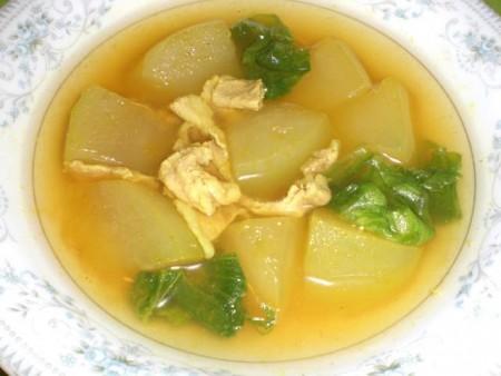 トウガンと豚肉のカレースープ煮