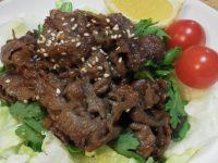 シュンギクの焼き肉サラダ