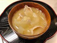 タマネギと豚肉のおかず味噌汁
